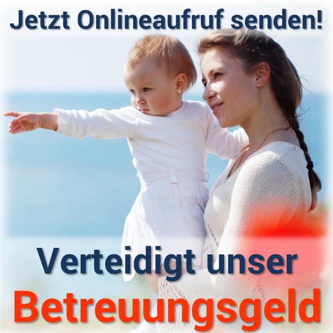Onlineaufruf Betreuungsgeld